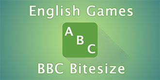 Go to the 'BBC Bitesize English Games' website