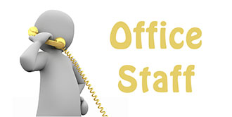 Go to our 'Office Staff' page