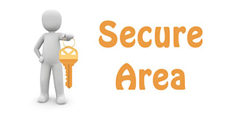 Go to the 'Secure Area' on the website